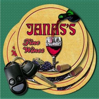 JANASS Fine Wines Coasters - Set of 4