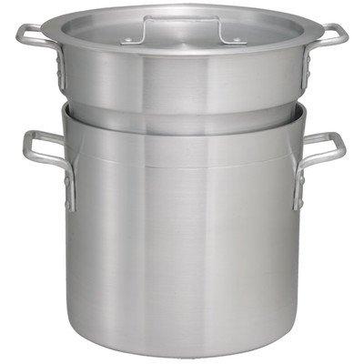 Winco ALDB-8 Aluminum Double Boiler Set 8-Quart
