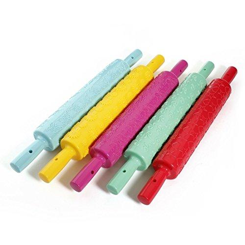 Happyliya® Kitchen Tools Embossed Rolling Pin Fondant Cake Paste Gum Embossing Sugarcraft Decorating Tool,star