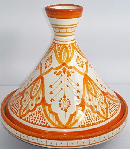 Large Moroccan Multi color Serving Tagine Pot Ceramic Cookware Dish Clay