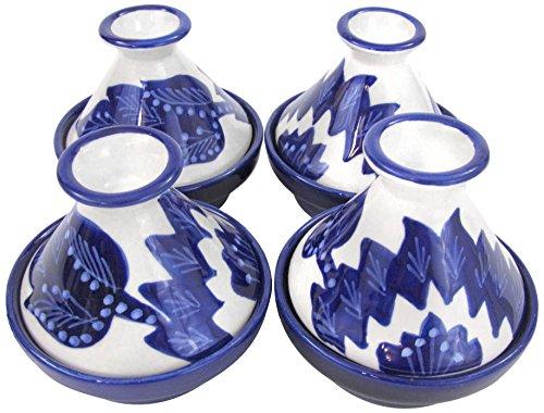 Le Souk Ceramique JA18 Stoneware Mini Serving Tagines Set of 4 Jinane