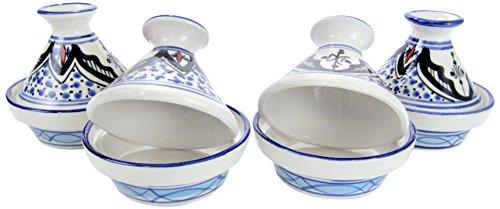 Le Souk Ceramique TIB18 Stoneware Mini Serving Tagines Set of 4 Tibarine