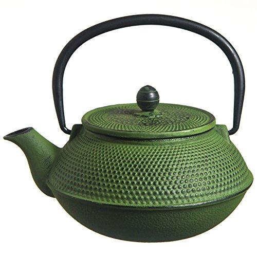 MV Trading T7006 Cast Iron Teapot 27-Ounce Green Hobnail
