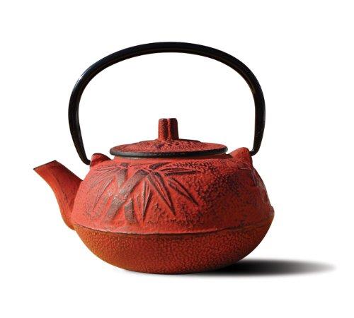Old Dutch Cast Iron Osaka Teapot 20-Ounce Red