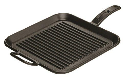 Lodge P12SGR3 Pro-Logic Cast Iron Square Grill Pan Pre-Seasoned 12-inch