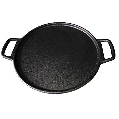 ROYAL KASITE Preseasoned Cast Iron Pizza Pan148-Inch
