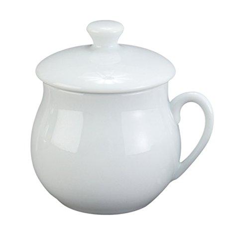 HIC Pots de Creme Custard Cups with Lids Porcelain 4-Ounce Set of 6