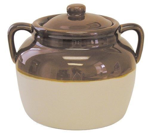 R M International 45 Quart Large Ceramic Bean Pot Brown