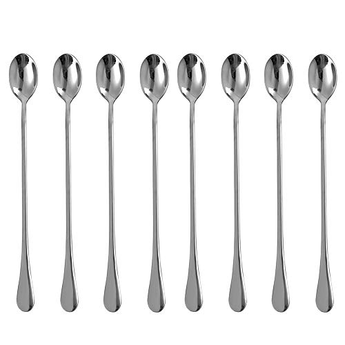 Eslite 925-Inch Long Handle Iced Tea SpoonStainless Steel Stirring Spoons8-piece