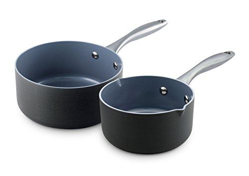 Greenpan Lima 2 Piece Hard Anodized Non-stick Ceramic Sauce Pan Set