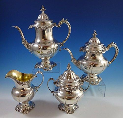 Grande Baroque by Wallace Sterling Silver Tea Set 4pc 4850-9 1138