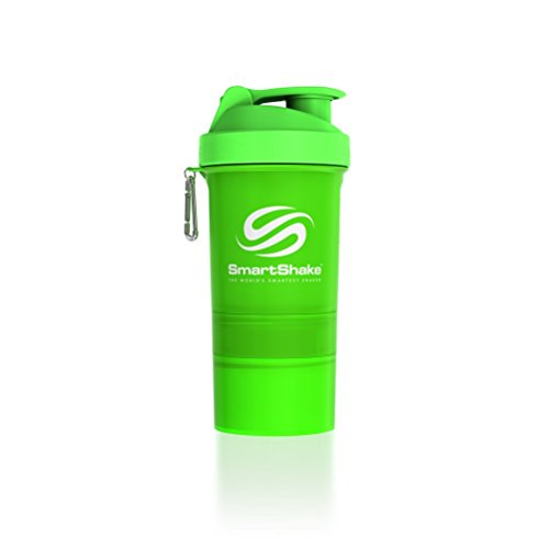SmartShake Original Bottle 20 oz Shaker Cup Neon Green