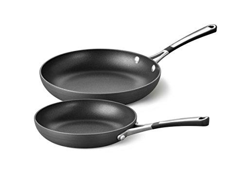 "Calphalon Hard Anodized Aluminum Nonstick Cookware Omelette Pan, 8/10"", Black"