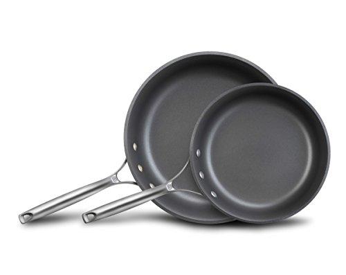 """Calphalon Unison Nonstick Slide Surface Omelette Pan, 10 And 12"""", Black"""