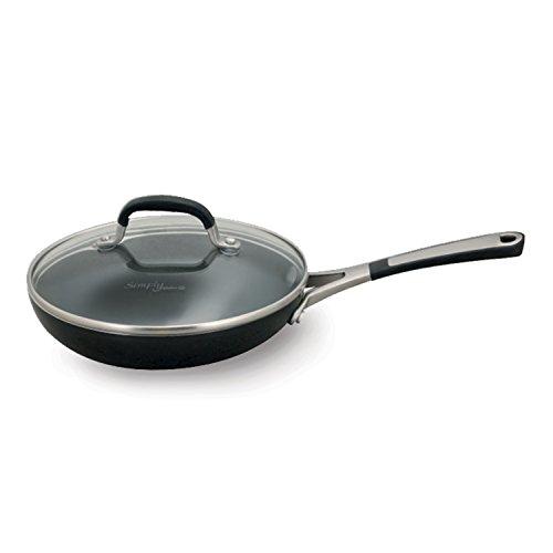 Simply Calphalon Enamel 8 Inch Covered Omelette Pan, Black