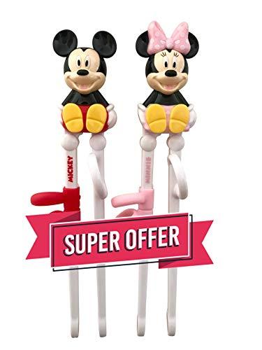 Disney Mickey Minnie Training Chopsticks for Right-handed Children Kids 2 pairs