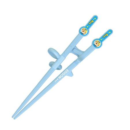 Edison Pororo Training Chopsticks for Right Handed 2 Step Blue