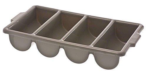 Browne 1990 4-Compartment Plastic Cutlery Box