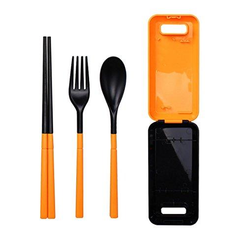 Outdoor tableware folding chopsticks forks spoons colorful cutlery sets folding chopsticks spoon fork cutlery box cutlery sets cutlery chopsticks chopsticks chopsticks tableware spoon fork c