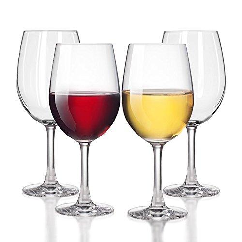 Unbreakable WhiteRed Wine glasses Smooth Rim - 100 Tritan Dishwasher-safe shatterproof plastic wine glasses - By TaZa Design -Set of 4 20 oz