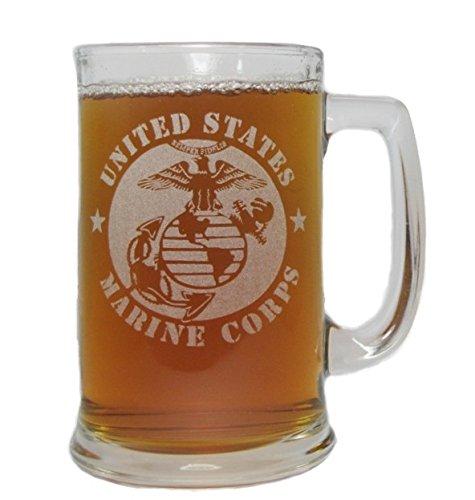 USMC Marine Corps 15oz Beer Mug with Handle