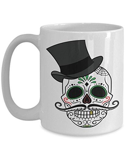 Day Of The Dead Mexican Sugar Skull Spider Decorative Coffee Mug