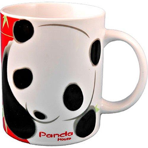 StealStreet 10512 4 inch Panda Bear Face Decorative Coffee Mug White Black