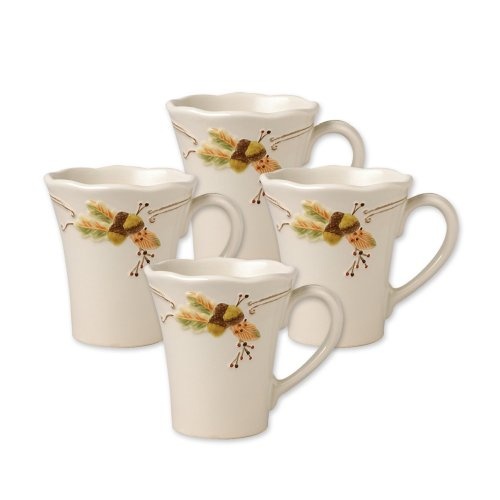 Pfaltzgraff Plymouth Coffee Mug 12-Ounce Set of 4
