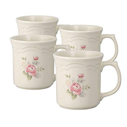 Pfaltzgraff Tea Rose Coffee Mug 12-Ounce Set of 4