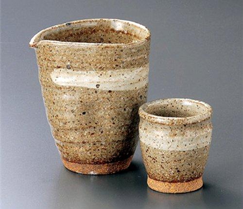 GREY-GLAZE Tohki Japanese Pottery SAKE Set 37inches Set of 5 SAKE Sets Japanese original Porcelain