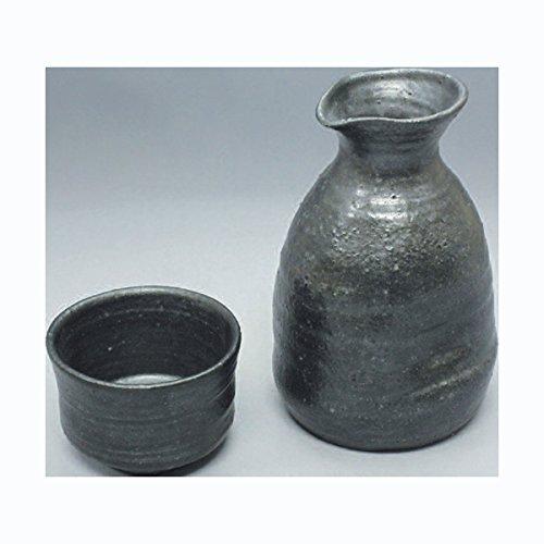 TOKYO MATCHA SELECTION - Sake Bottle 2 Cup Set - Konsei B - Japanese Tokoname-yaki pottery ceramic Standard ship by Intl e-packet with Tracking Insurance