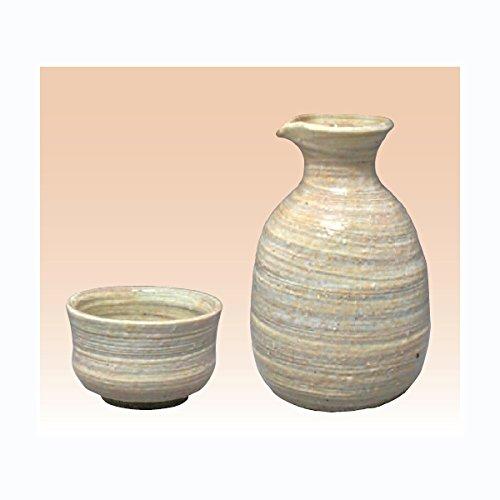TOKYO MATCHA SELECTION - Sake Bottle 2 Cup Set - Konsei C - Japanese Tokoname-yaki pottery ceramic Standard ship by Intl e-packet with Tracking Insurance