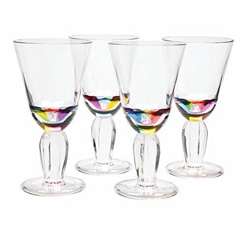 Acrylic Rainbow Wine Glasses by Merritt International--Set of 4 12 oz