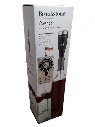 Brookstone Aero Full Bottle Wine Aerator - Includes 2 Wine Stems