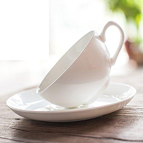Bone China coffee cup set Simple Tea Cup household coffee mug-A