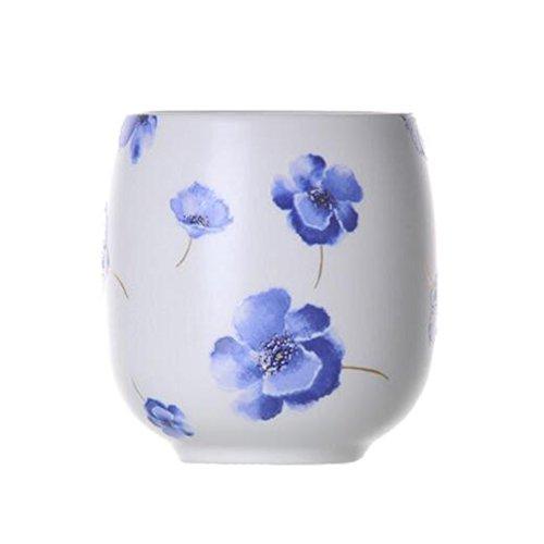 Chinese Japanese Ceramic Tea Cups Household Tea Set Teacup Set of 2 Blue B