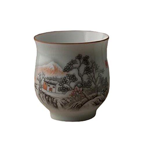Chinese Japanese Ceramic Tea Cups Household Tea Set Teacup Set of 2 L
