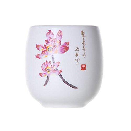Chinese Japanese Ceramic Tea Cups Household Tea Set Teacup Set of 2 Pink