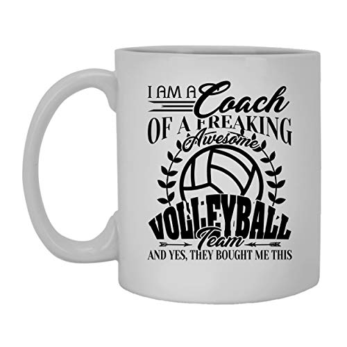 Awesome Volleyball Coach Coffee Mug Ceramic Mug White Tea Mug 11 oz