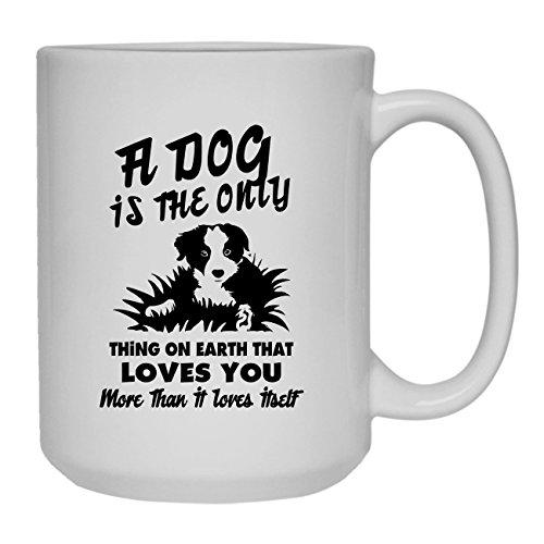 Border Collie Love Coffee Mug Ceramic Mug White Tea Mug 15 oz