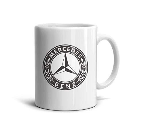 HAGHH White Tea Mugs Daily Use Mercedes-Benz-emblem-1926-logo-symbol-polished Ceramic Printed Teacup 11 oz 330ml Cup for Car Fans
