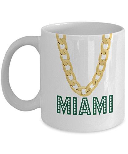 Miami Coffee Mug - 11oz White Ceramic Tea Cup Miami Pride Novelty Holiday Christmas Gift Set of 1