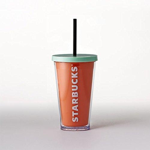 Starbucks Acrylic Cold Cup Tumbler Orange 16 fl oz