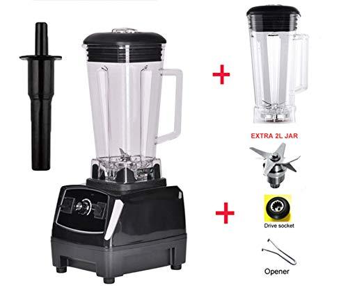 2200W 3Hp 2L G5200 High Power Commercial Home Professional Smoothies Power Blender Food Mixer Juicer Fruit ProcessorBlack 2L Jug 3 PartsEu Plug