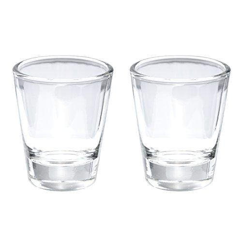 Thirsty Rhino Karan Round 15 oz Shot Glass with Heavy Base Clear Glass Set of 2