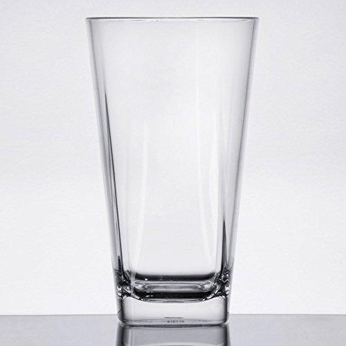 GET SW-1472-CL Cubed 16 oz Clear Plastic Pint Glass - 24Case