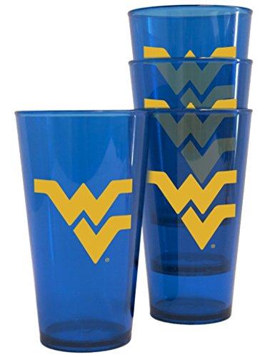 West Virginia Mountaineers Plastic Pint Glass Set