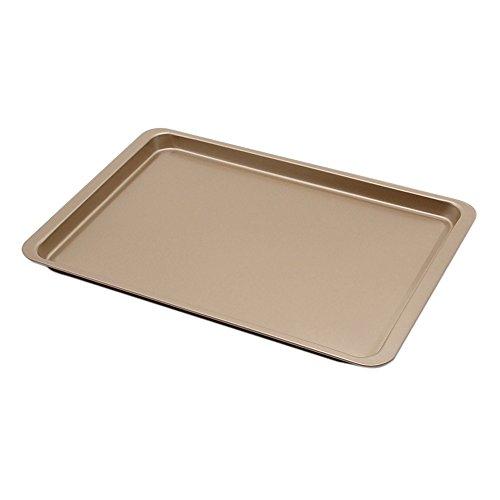 Plataplus Rectangle Cookie Sheet Nonstick Bakeware FDA Approved 145x10x07 Glod