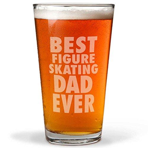 Best Figure Skating Dad Ever Engraved Beer Pint Glass By ChalkTalk SPORTS  20 oz