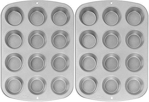 Wilton Recipe Right Nonstick 12-Cup Regular Muffin Pan 2 STANDARD